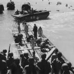7th AAF Engineers Build High Tide Raft on Saipan