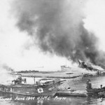 Burning boats Battle of Saipan June 1944
