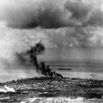 Fires Sunken Ships after US Attacks June 14, 1944 Saipan Garapan