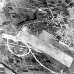 Japanese Aslito airfield on Saipan 1944 aerial photo