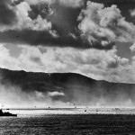 Japanese Plane Falls into Sea as US Landing Craft Storm Saipan