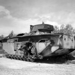 LVT(A)-4 Buffalo Amtrac Knocked Out at Caran Kanoa Airfield Saipan