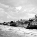 LVT 4 Buffalo Amtracs Knocked Out Saipan June 1944