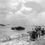 LVT Buffalo Amtrac Landing on Saipan Beach June 15 1944