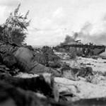 LVT Buffalo Unloading on Saipan June 15, 1944