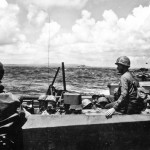 LVTs heading for shore The 2nd and 4th Marine Division 15 June 1944 Saipan