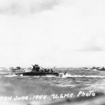 LVTs heading for shore on 15 June 1944 Saipan