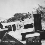 M4 Sherman on beach Battle of Saipan June 1944