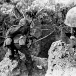 Marine Officer Clears Cave on Saipan with M1911 Colt .45