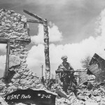 Marine with BAR Browning MG Saipan Island 1944