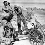 Marines Fire Captured Japanese Mountain Gun Saipan