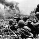 Marines Fire Machine Gun At Japanese Troops Saipan Pacific