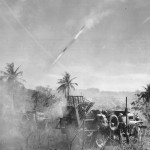 Marines Fire Rockets at Japanese Positions on Saipan