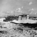 Marines Head toward Shore for Initial Landing on Saipan