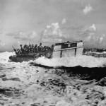 Marines Head toward Shore for Initial Landing on Saipan