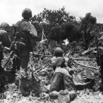Marines In Action On Saipan 1944 Pto