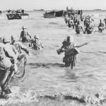 Marines Landing Wading Ashore Beach Saipan June 1944