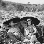 Marines Resting in Foxhole after Battle on Saipan
