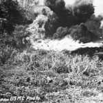 "Marines M3A1 Stuart ""Satan"" D-11 Flame Thrower Tank In Action On Saipan. Tank of the 4th Tank Battalion"