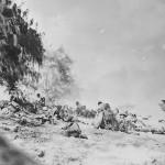 Marines in action Saipan Beach June 1944