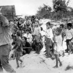Marines round up civilians on Saipan 1944