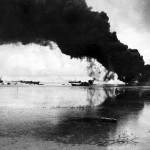 Naval Guns Blast Japanese Fuel Dump in Garapan Saipan