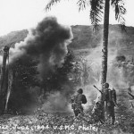 Troops in action Battle of Saipan June 1944
