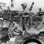 USMC Gen Smith and Admirals King and Nimitz Saipan