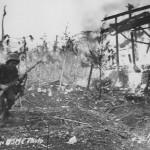 US Marine with BAR Browning Automatic Rifle Saipan