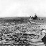 US Navy cruiser shells Saipan during invasion 1944