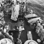 US Soldiers Buried at Sea during 3rd Day of Saipan Invasion