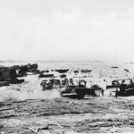 US Troops LCM Bulldozers and Trucks on Saipan Beach