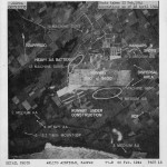 US aerial reconnaissance photograph taken over Saipan 22 February 1944