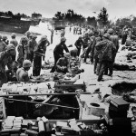 Wounded US Soldiers Saipan Beach June 1944
