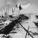 Abandoned Amtracs Tarawa 1943