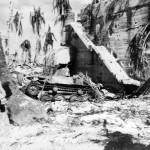 Admiral Keiji Shibazaki's bunker and Knocked Out Type 95 Ha-Go tank in Tarawa