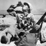 Marine with Grenades and Ammo on Tarawa Beach 1943