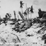 Marines Creep Japanese Pill Boxes Tarawa Island 1943