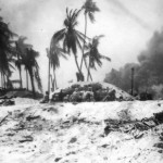 Marines Take Cover From Japanese Fire On Tarawa 1943