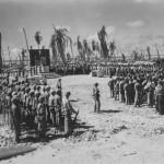 Marines at Memorial Service for Fallen Comrades on Tarawa 1943