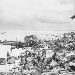 Tarawa island beachhead 1943