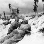 US Marines Creep Japanese Pill Boxes Tarawa Island 1943