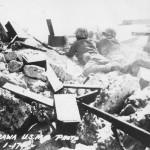 marine machine gun in action Tarawa 1943