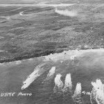Invasion fleet Battle of Tinian 1944 Mariana Islands