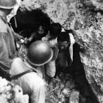 Marines Take Japanese Prisoner POW On Tinian 1944