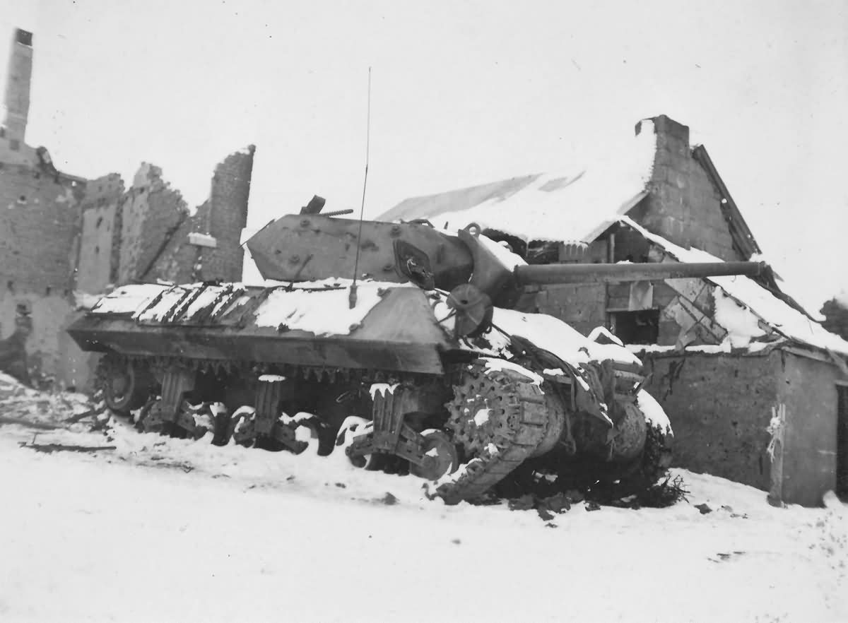 Destroyed M10 Tank Destroyer 35th Infantry Division 454th