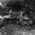 32nd Division M10 Hells Kitchen on Beach at Saidor Dutch New Guinea 1944