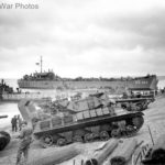 M10 Bessie USS LST 325 and LCT 153 beached in Sicily 10 July 1943