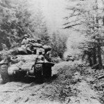 M10 Wolverine Moving Thru Hurtgen Forest 893rd Tank Destroyer Battalion