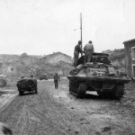 M10 Wolverine Tank Destroyer And Jeep Enter Fresnes France 1944
